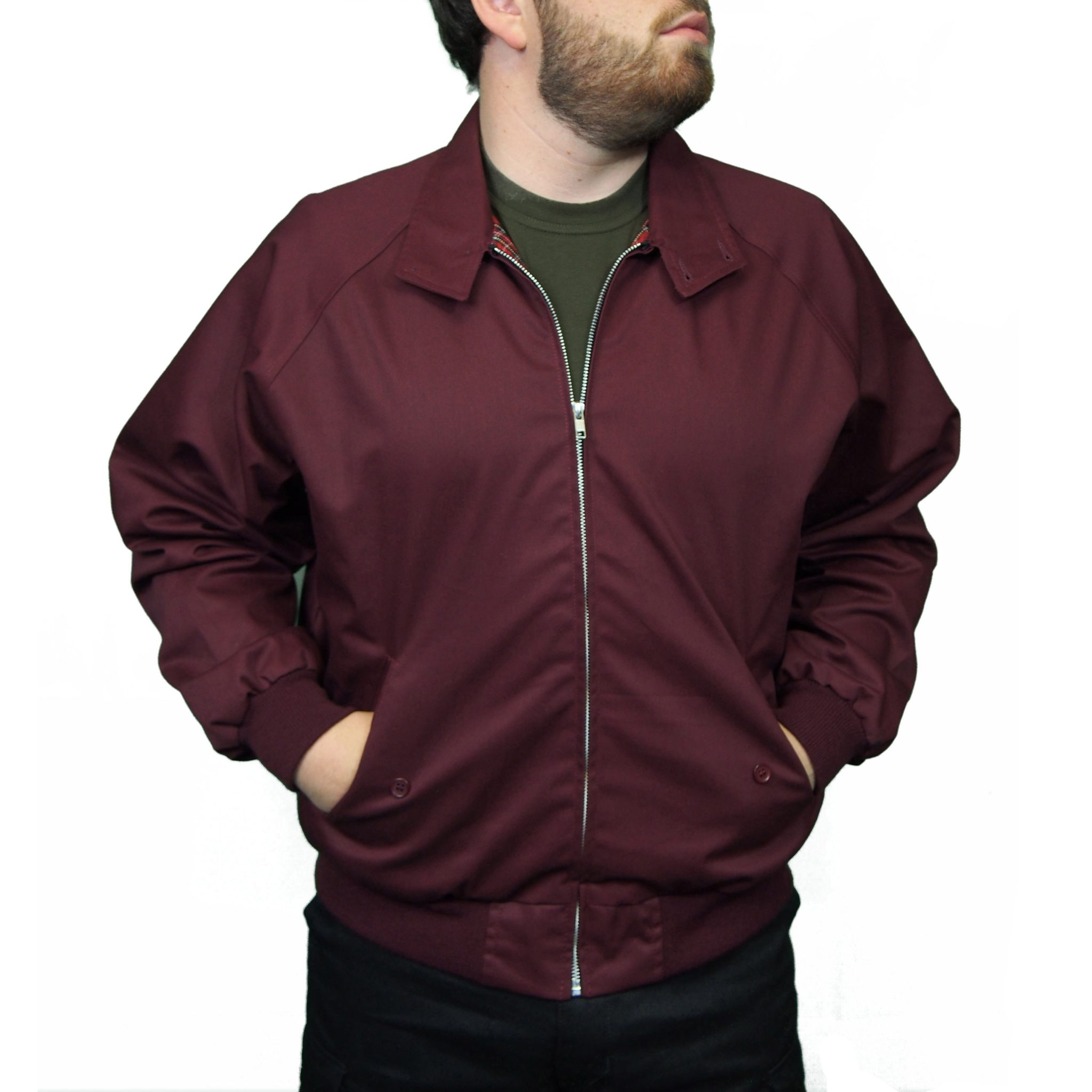 Combat Harrington Jacket | Burgundy