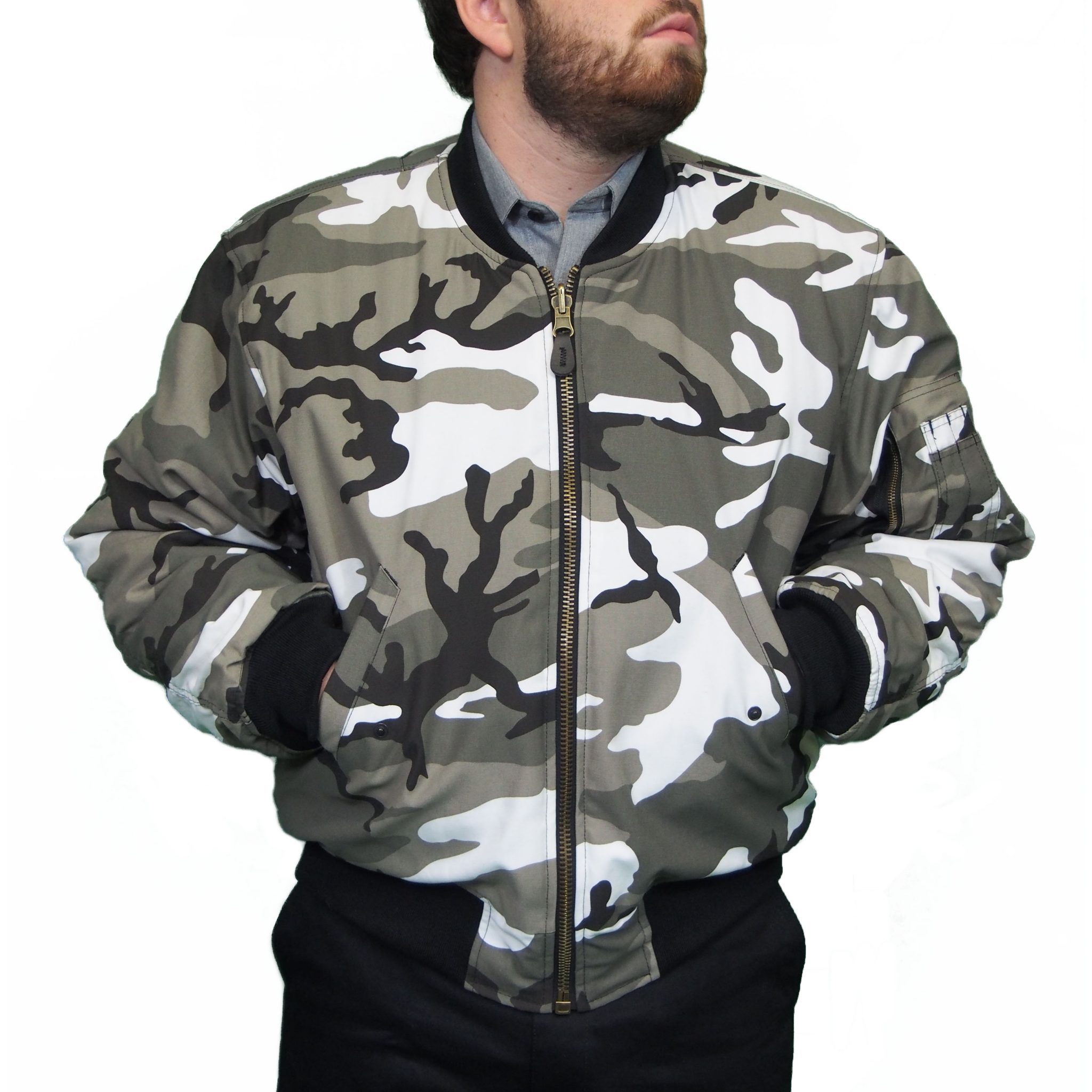 Mil-Tec MA1 Flight Jacket - Urban Camo | Camp Kitchen