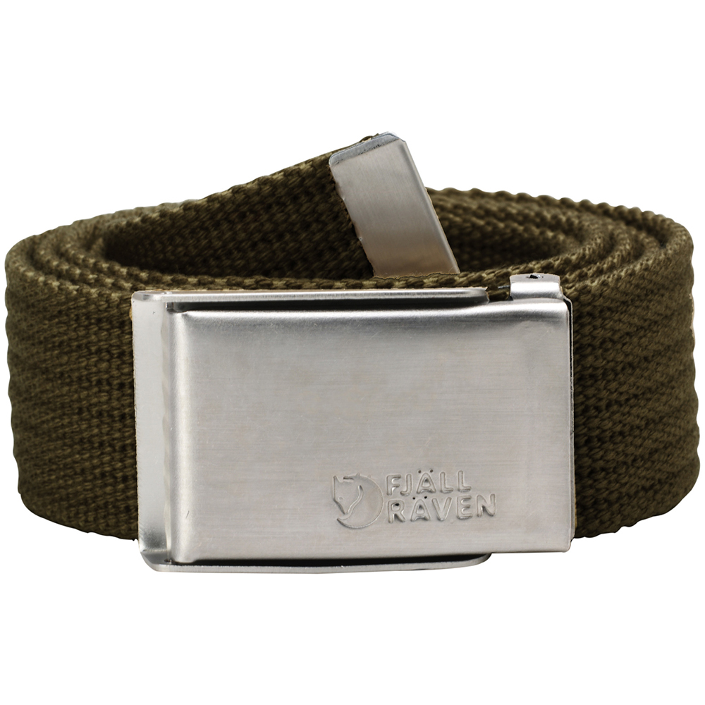 Fjällräven Merano Canvas Belt | Dark Olive