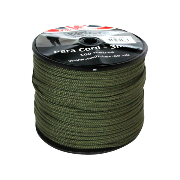 Web-Tex Paracord Reel | 100m | Olive