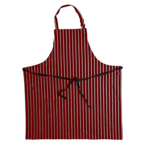 Dennys Cotton Bib Apron | Red
