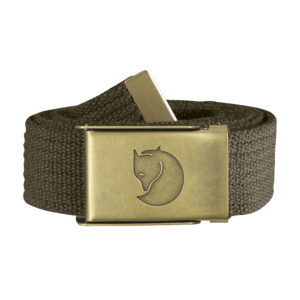 Fjällräven Canvas Brass Belt 3cm | Dark Olive