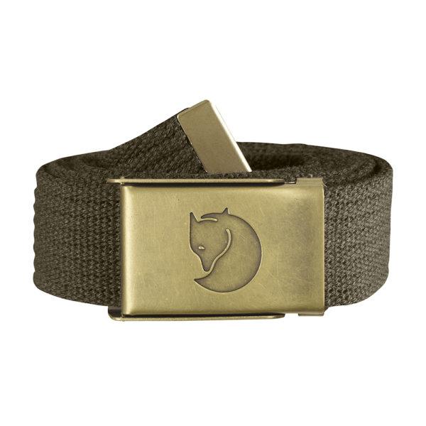 Fjällräven Canvas Brass Belt 3cm | Dark Olive