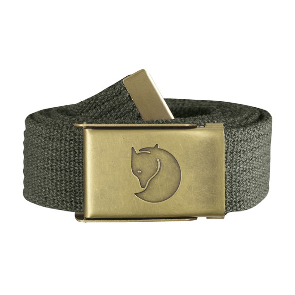 Fjällräven Canvas Brass Belt 3cm   Mountain Grey