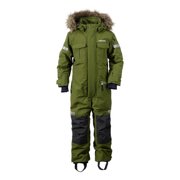 Didrikson Migisi Kids Coverall | Turtle Green