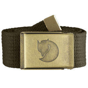 Fjallraven Canvas Brass Belt 4cm | Dark Olive