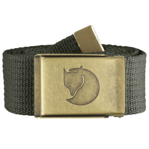 Fjallraven Canvas Brass Belt 4cm | Mountain Grey