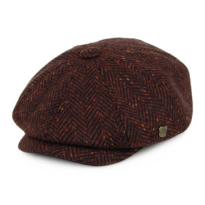 Failsworth Malmo Donegal Tweed Cap | Wine