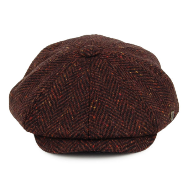 Failsworth Malmo Donegal Tweed Cap   Wine Front
