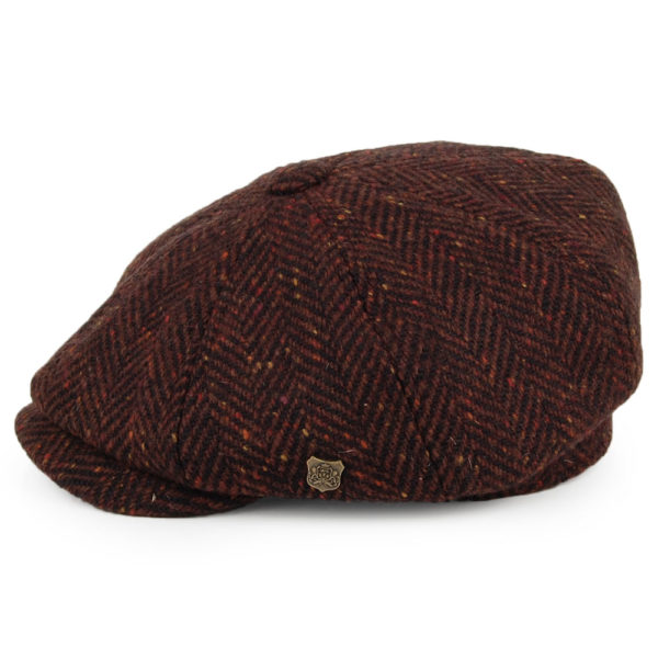 Failsworth Malmo Donegal Tweed Cap   Wine Side