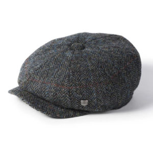 Failsworth Carloway Harris Tweed Cap | Grey Blue