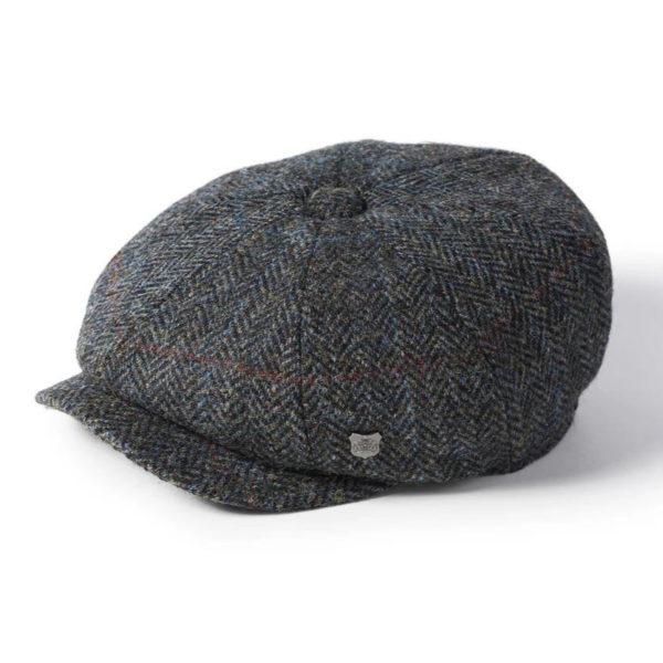 Failsworth Carloway Harris Tweed Cap | Grey Blue