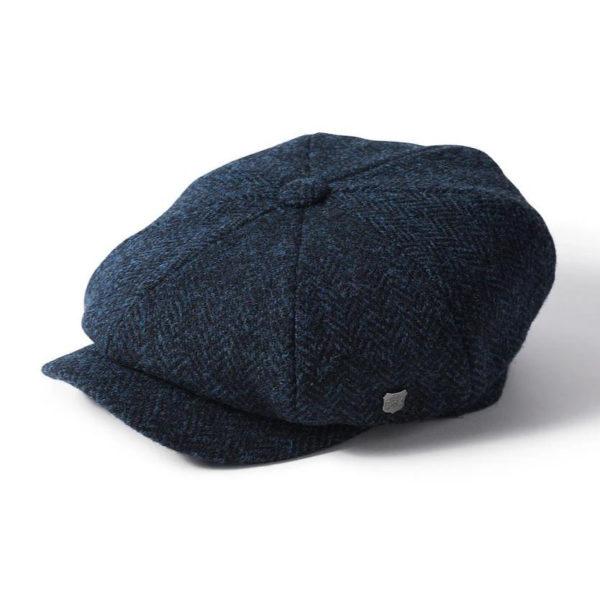 Failsworth Carloway Harris Tweed Cap | Navy