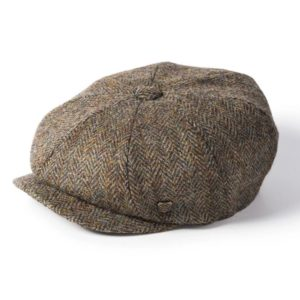 Failsworth Carloway Harris Tweed Cap | Olive