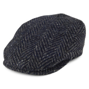 Failsworth Longford Donegal Tweed Cap | Navy Grey
