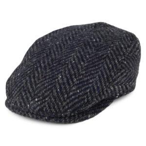Failsworth Longford Donegal Tweed Cap | Navy Grey
