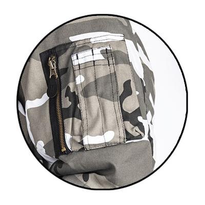 Mil-Tec MA1 Flight Jacket | Urban Camo Zip Detail